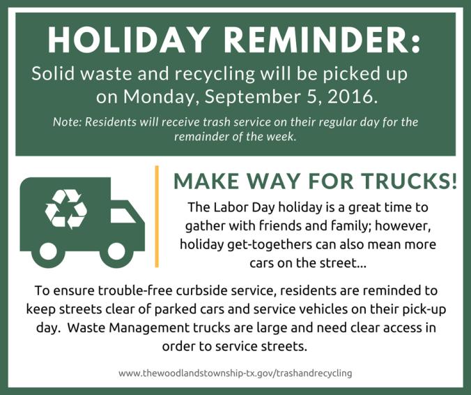 Trash Reminder - Labor Day (2)