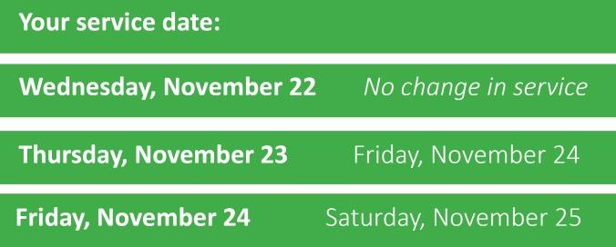 solid waste schedule