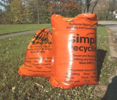 simple recycling bags