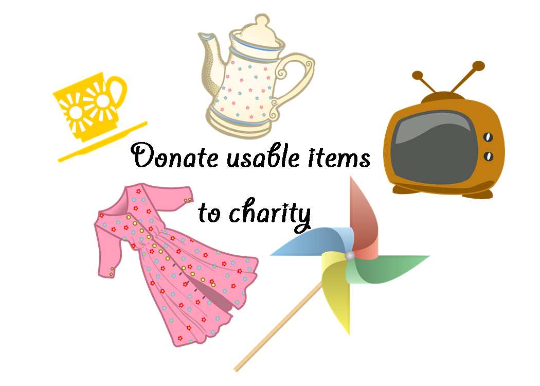 Donate usable items graphic